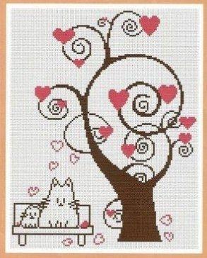 Вышивка крестом деревья счастья